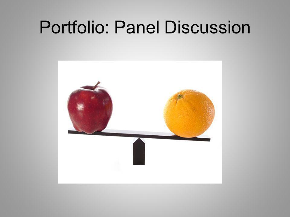 Portfolio: Panel Discussion