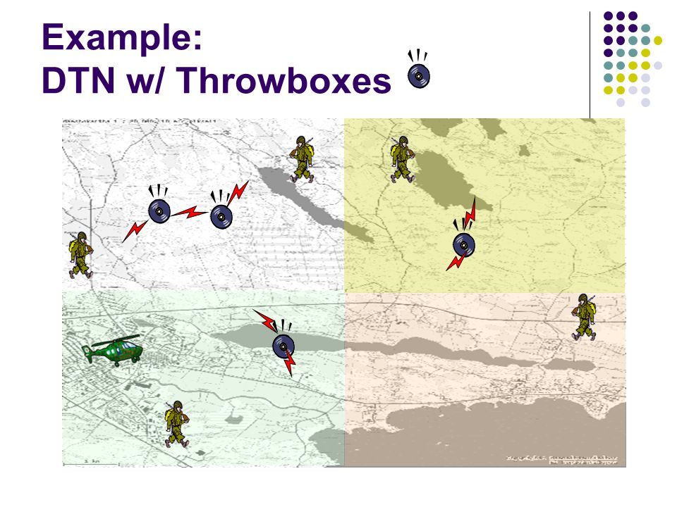 Delivery Ratio vs. Number of Throwboxes Epidemic routing