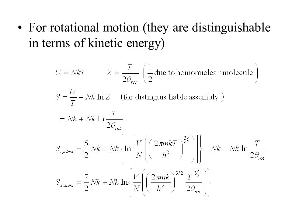 Translational Kinetic Energy Formula Rotational Kinetic Energy