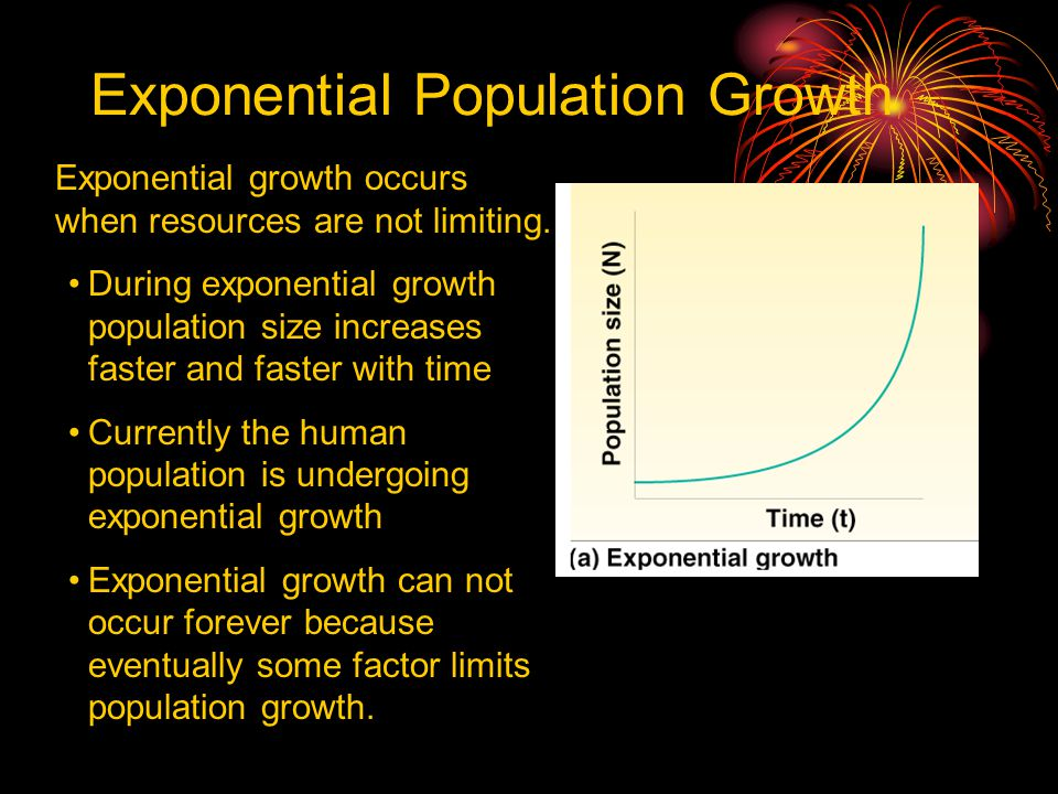 Exponential Population Growth © Brooks/Cole Publishing Company / ITP Exponential growth occurs when resources are not limiting. During exponential gro