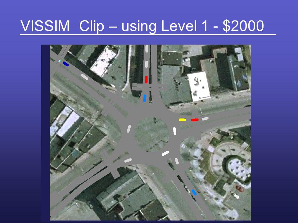 VISSIM Clip – using Level 1 - $2000