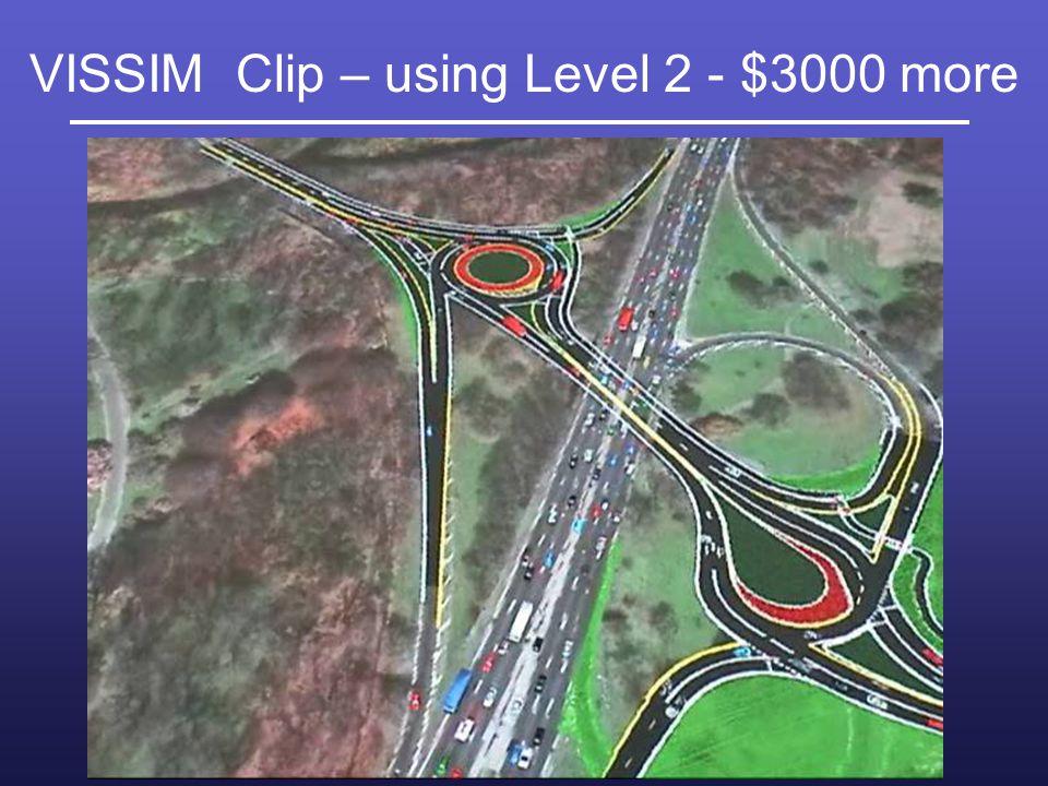 VISSIM Clip – using Level 2 - $3000 more