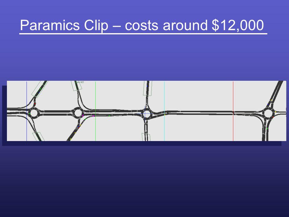 Paramics Clip – costs around $12,000