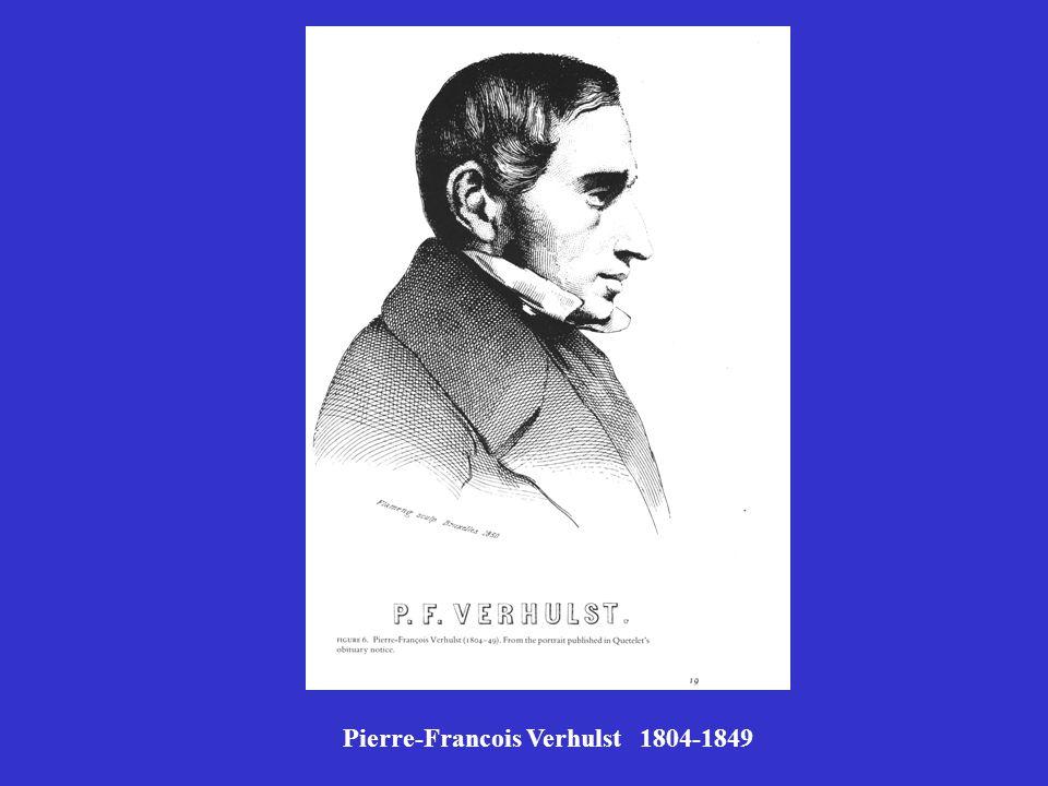 Pierre-Francois Verhulst 1804-1849
