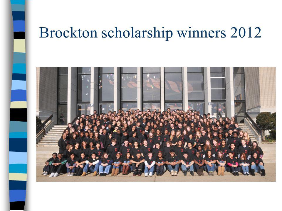 Brockton scholarship winners 2012