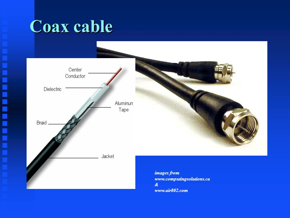 Coax cable images from www.computingsolutions.ca & www.air802.com