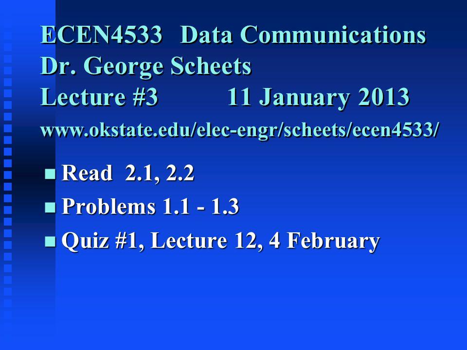 ECEN4533 Data Communications Dr.