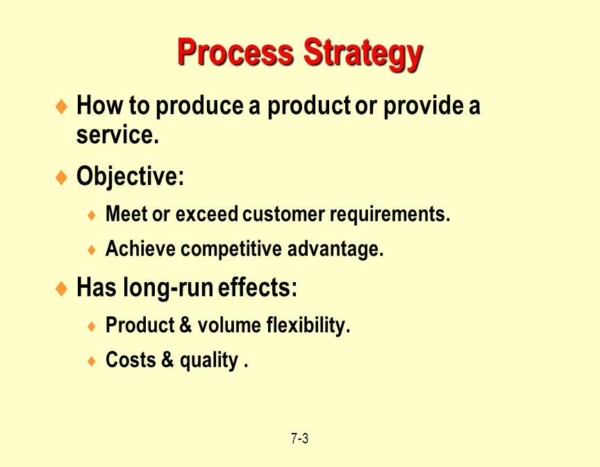 7-4 Four Process Strategies Four process strategies: 1.