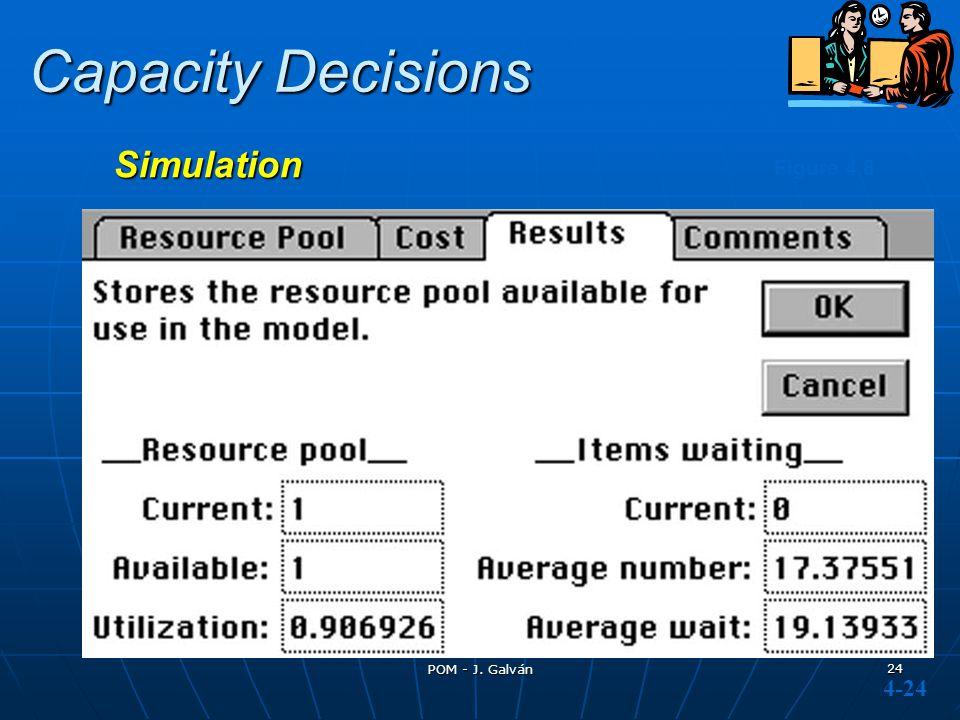 POM - J. Galván 24 Figure 4.8 Capacity Decisions Simulation 4-24