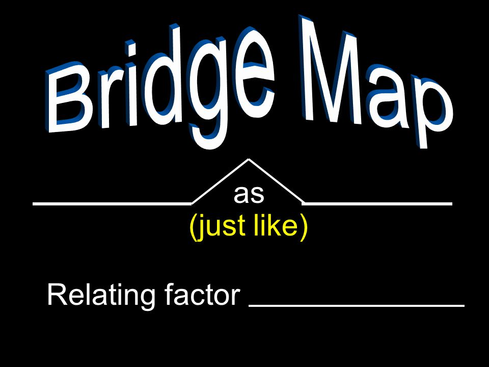 as (just like) Relating factor