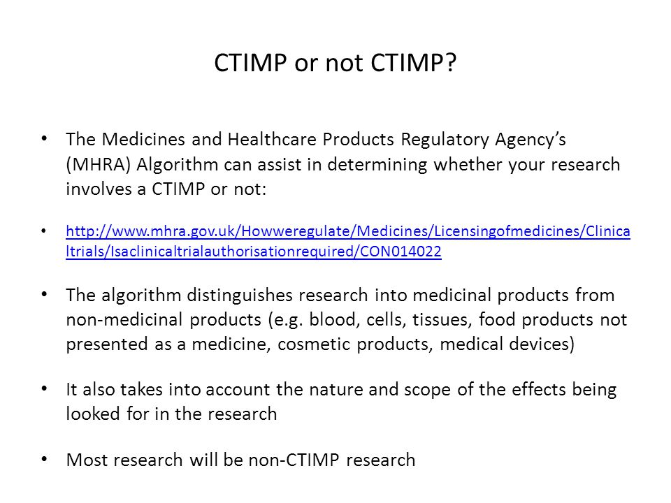 CTIMP or not CTIMP.