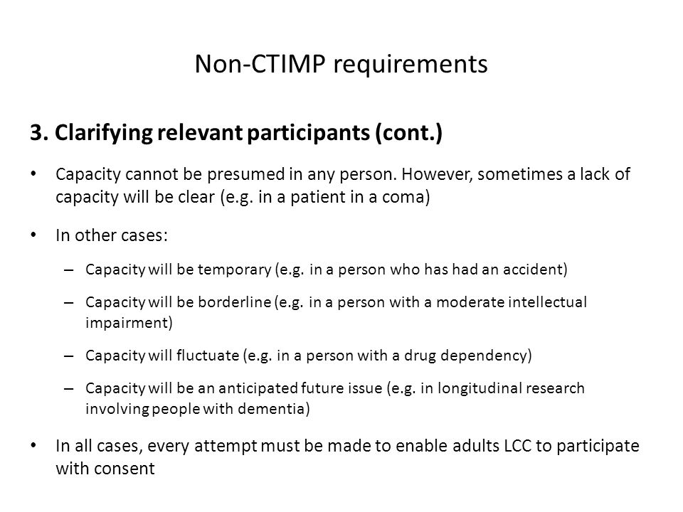 Non-CTIMP requirements 3.