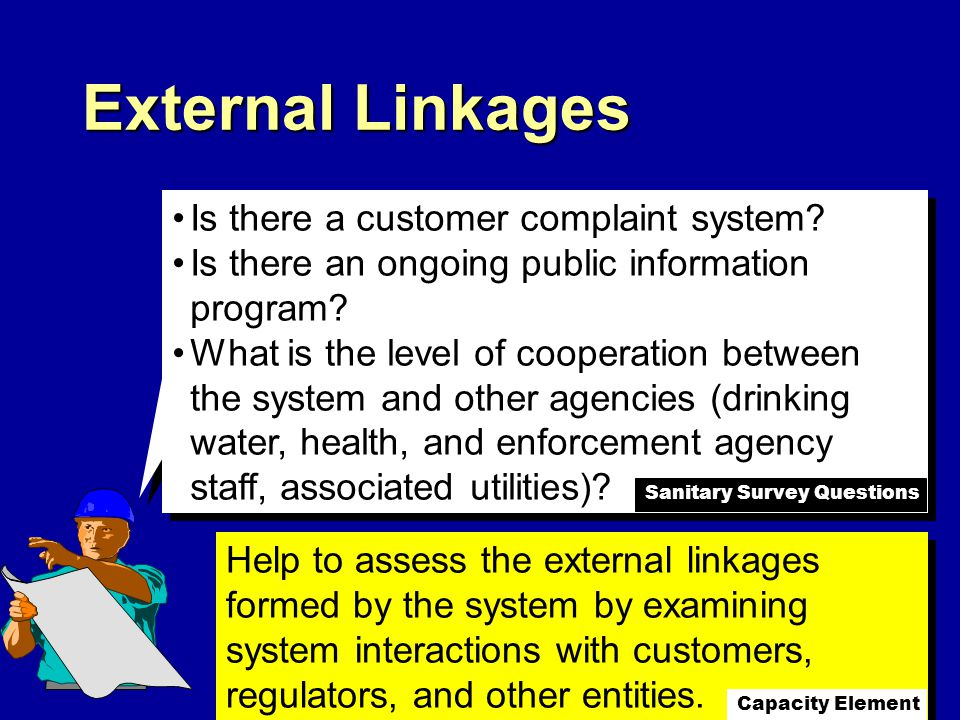 External Linkages Is there a customer complaint system.