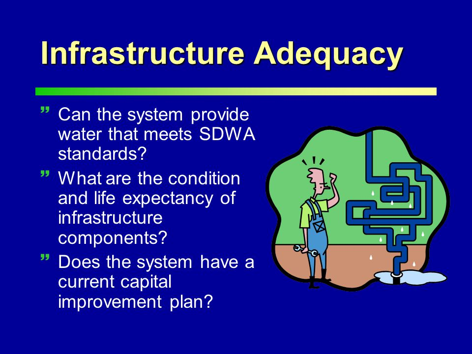 Infrastructure Adequacy ~Can the system provide water that meets SDWA standards.