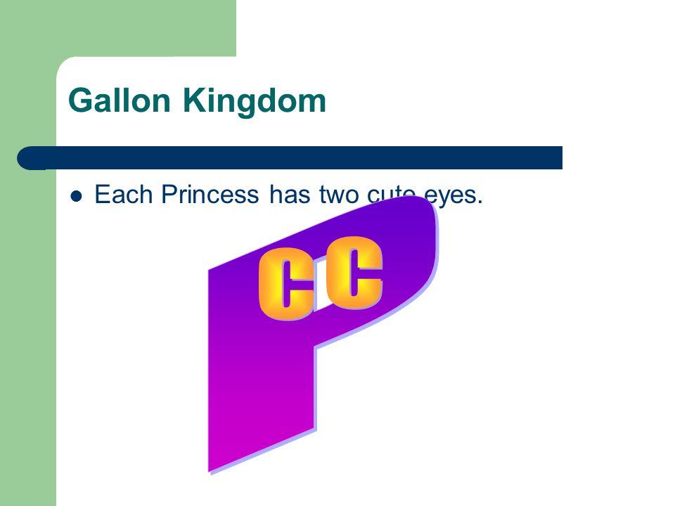 Gallon Kingdom Each Princess has two cute eyes.