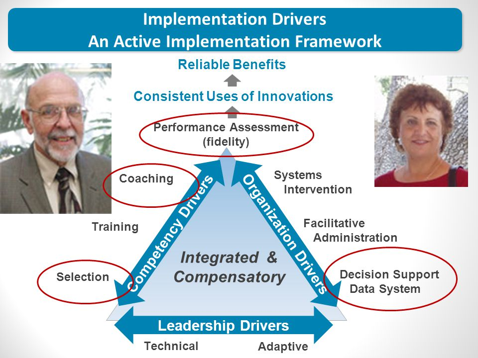 Performance Assessment (fidelity) Coaching Training Selection Integrated & Compensatory Systems Intervention Facilitative Administration Decision Supp