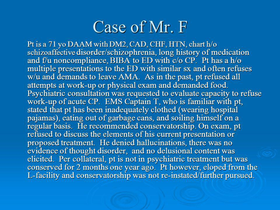 Case of Mr.
