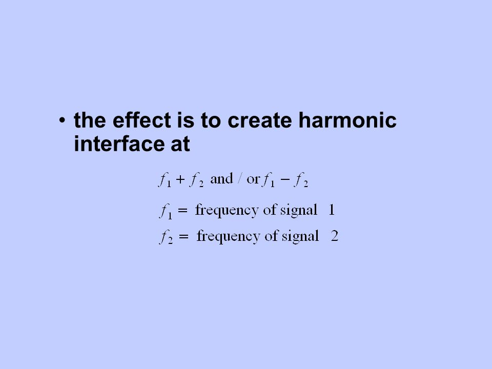 the effect is to create harmonic interface at