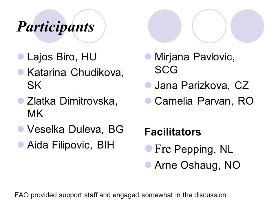 Objectives The objectives of the meeting were to: Formally initiate the Network on Capacity Development for the CEE countries within the capacity development initiatives of SCN, UNU and other European research and training institution.