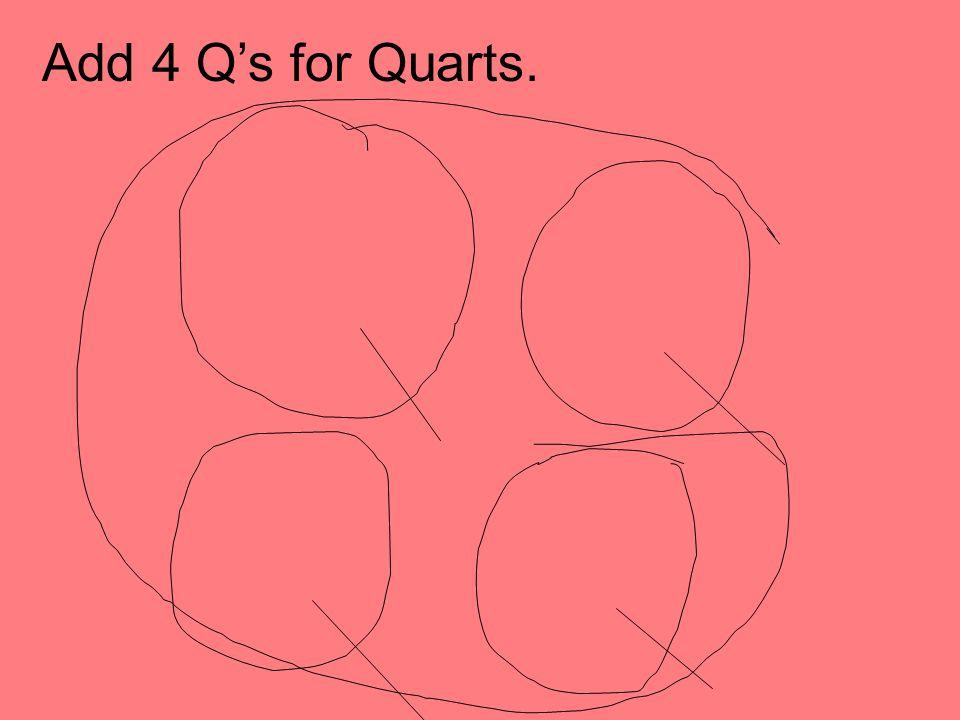Add 4 Qs for Quarts.