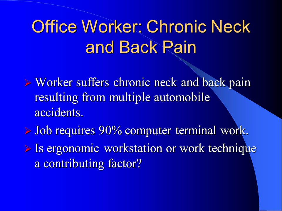 Outcome Work technique contributes to shoulder and low back stress. Work technique contributes to shoulder and low back stress. Researched plant const