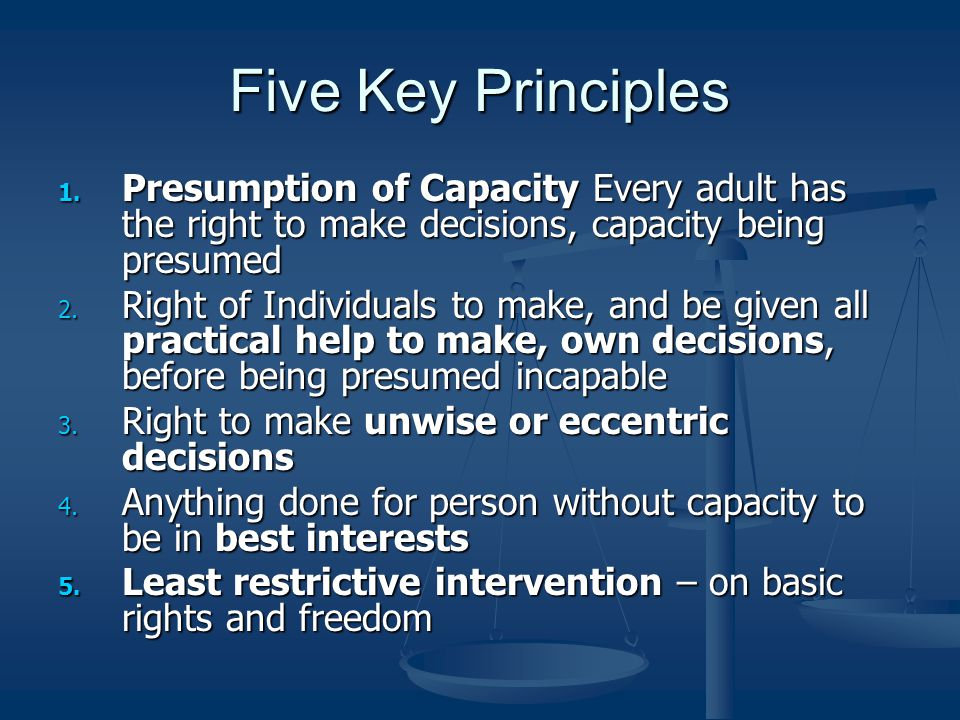 Five Key Principles 1.