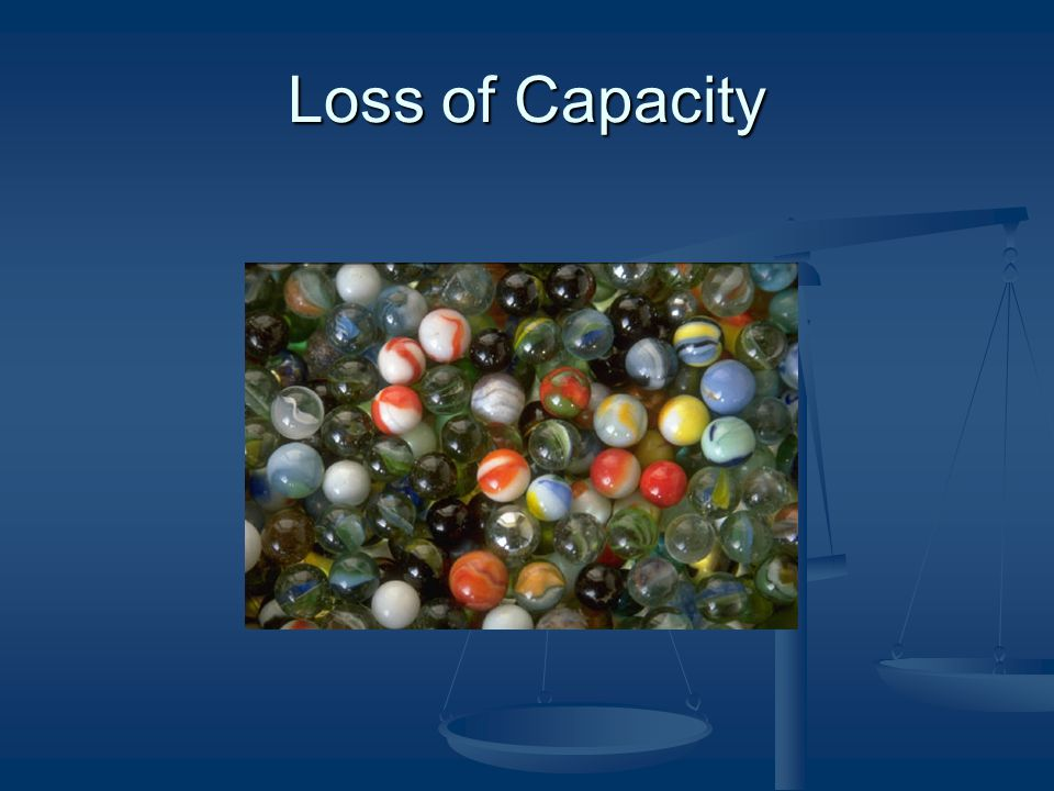 Loss of Capacity