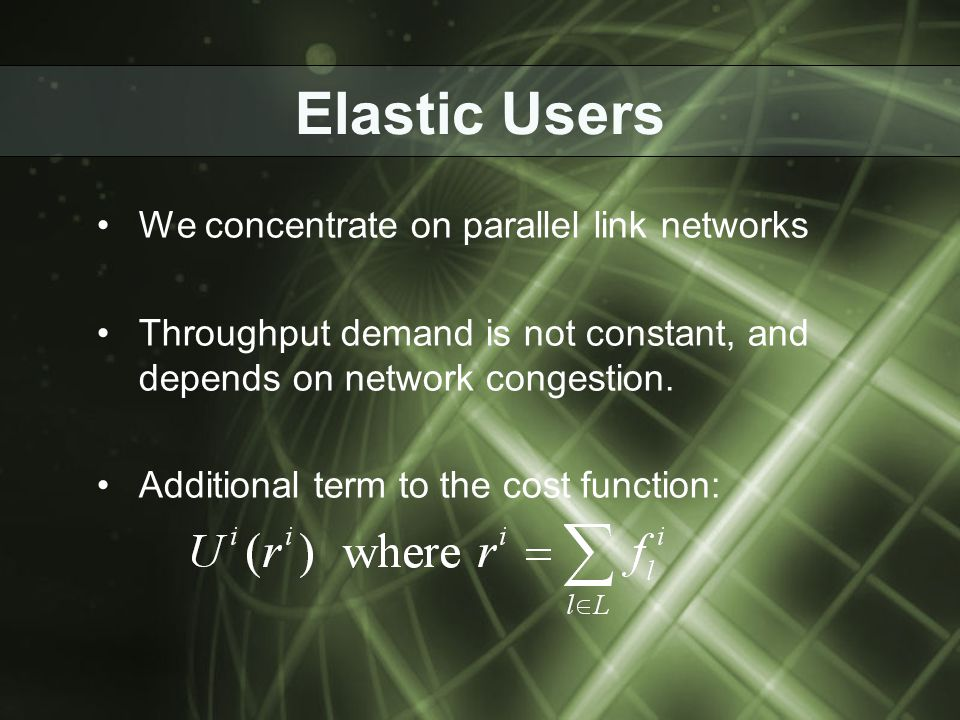 Uniqueness of NEP for Elastic Users - Proof Idea: Reduction to the plastic problem.
