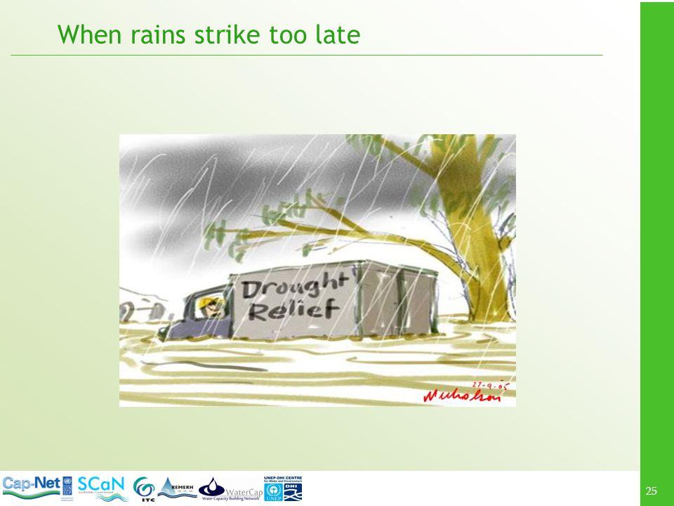 25 When rains strike too late