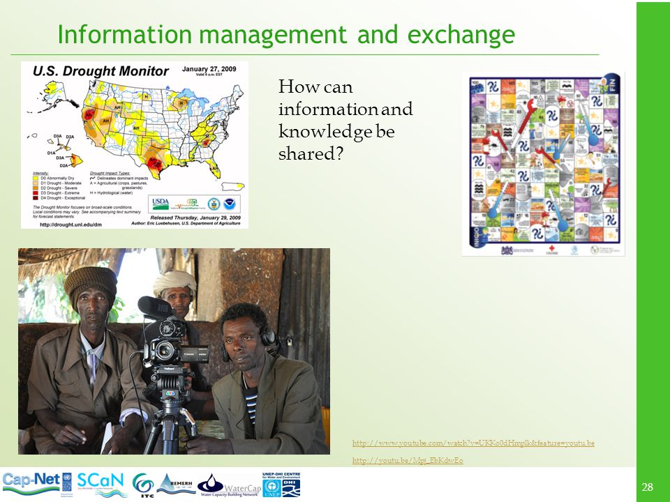 28 Information management and exchange http://www.youtube.com/watch?v=UKKo0dHmplk&feature=youtu.be http://youtu.be/Mpj_EbKdwEo How can information and knowledge be shared?