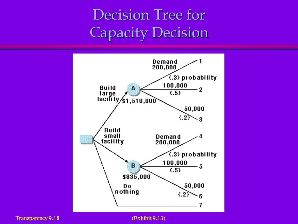 Decision Tree for Capacity Decision Transparency 9.18 (Exhibit 9.13)