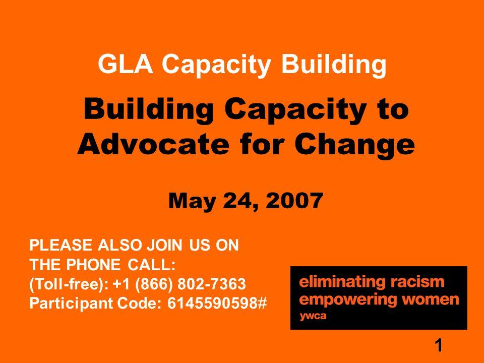 2 Presenters Rebecca Gurney, GLA Advocacy Coordinator Frank Martinelli, GLA Capacity Building Consultant