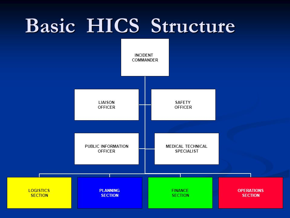 Basic HICS Structure MEDICAL TECHNICAL SPECIALIST