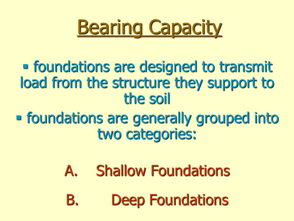 Shallow Foundations the most common (and cheapest) type of shallow foundations are the most common (and cheapest) type of shallow foundations are SPREAD FOOTINGS SPREAD FOOTINGS square spread footings to support individual columns (also circular) McCarthy, 6 th Ed.