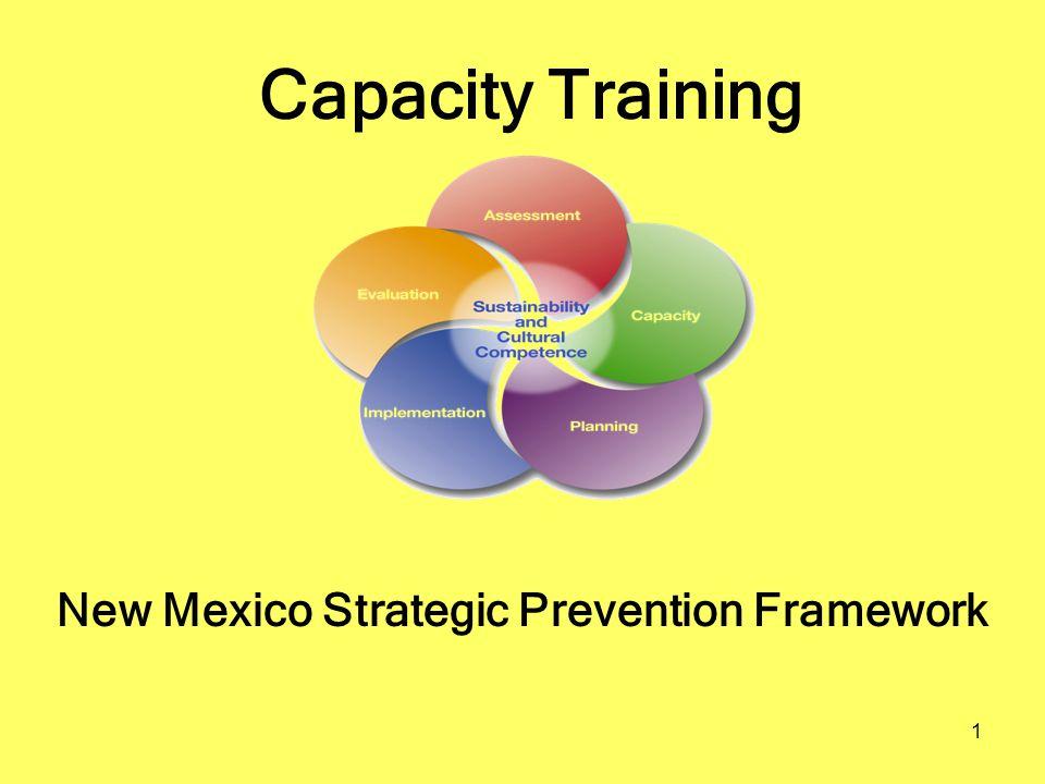 1 Capacity Training New Mexico Strategic Prevention Framework