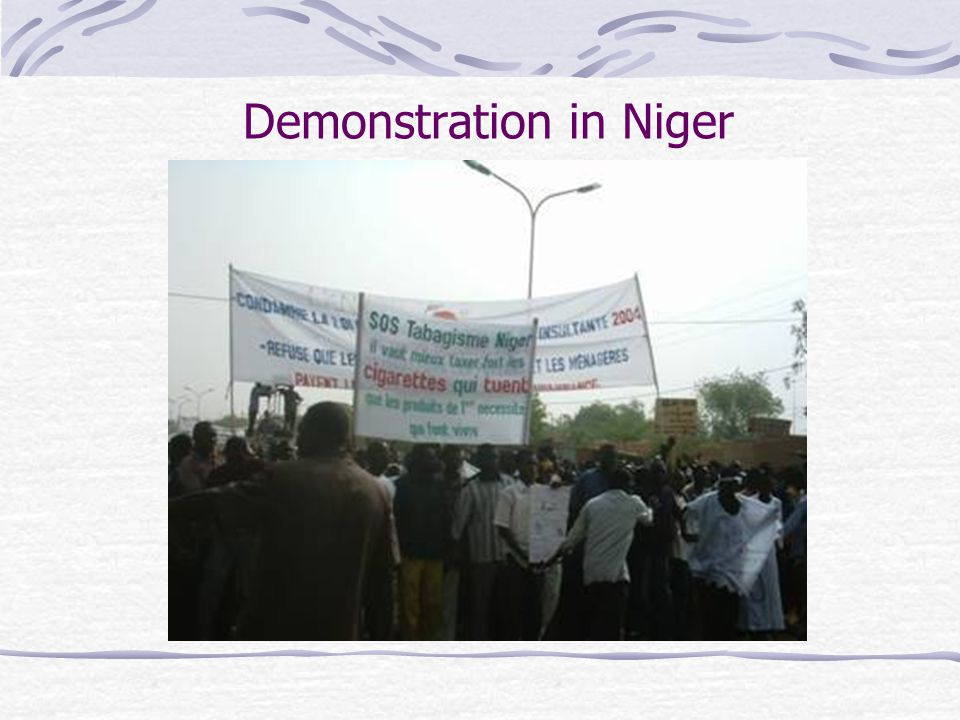 Demonstration in Niger