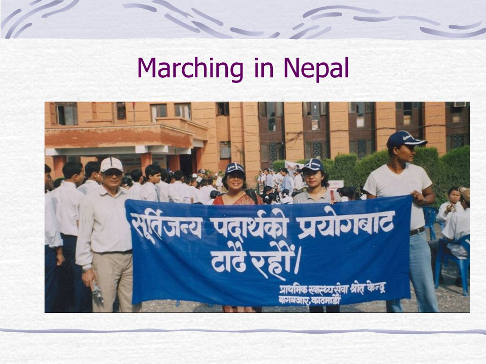 Marching in Nepal