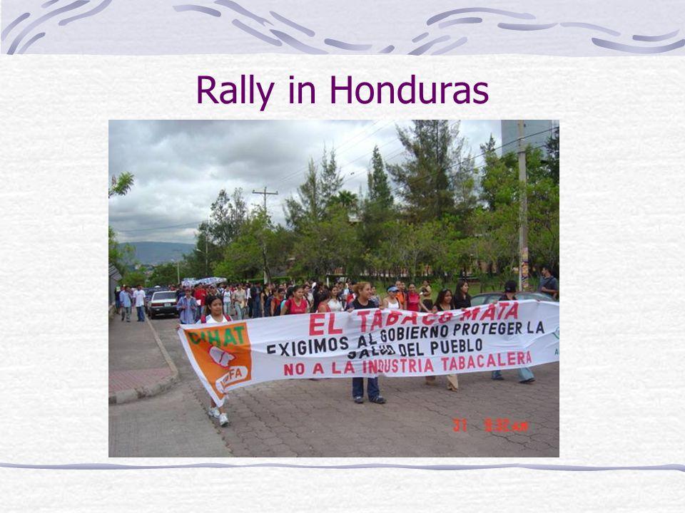 Rally in Honduras