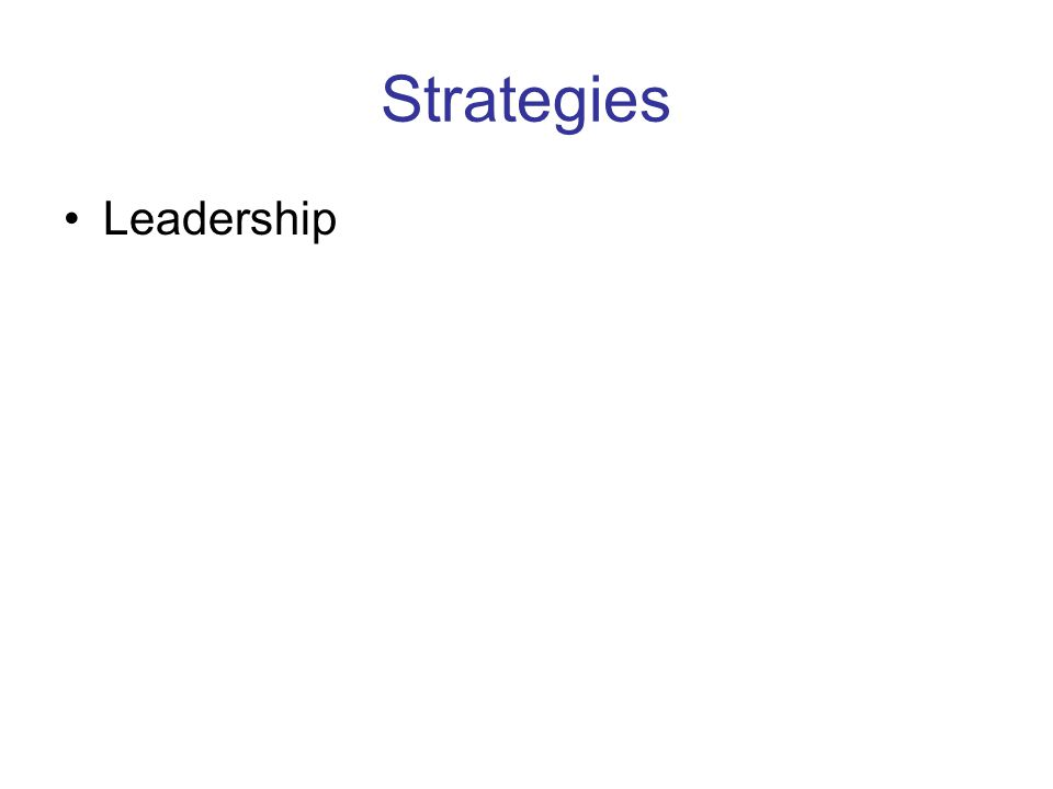 Strategies Leadership