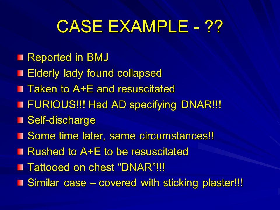 CASE EXAMPLE - .