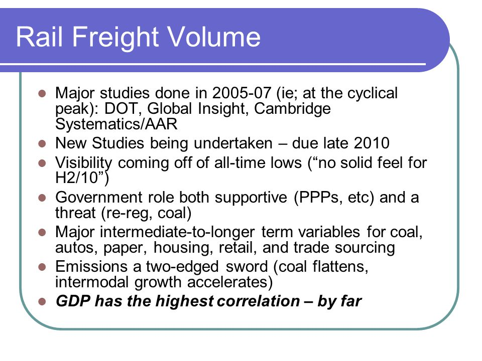 Rail Regulatory Risk.