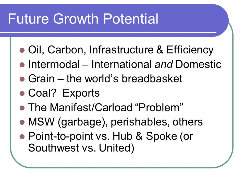 S0 -What is the growth rate.Great studies done – in 2007 Is there a Great Re-set.
