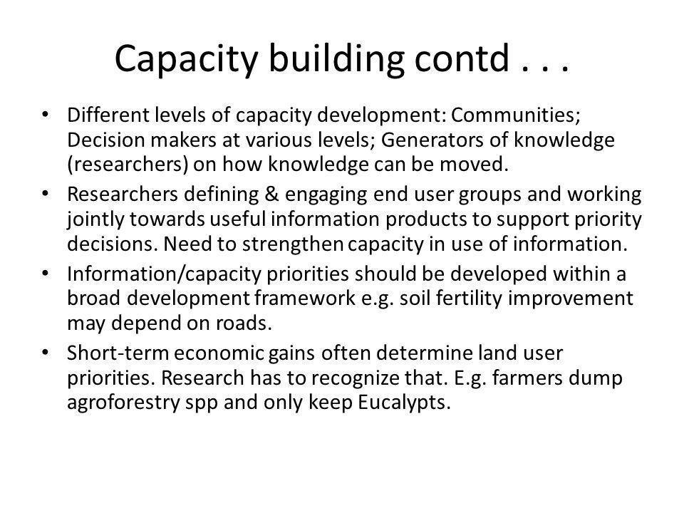 Capacity building contd...