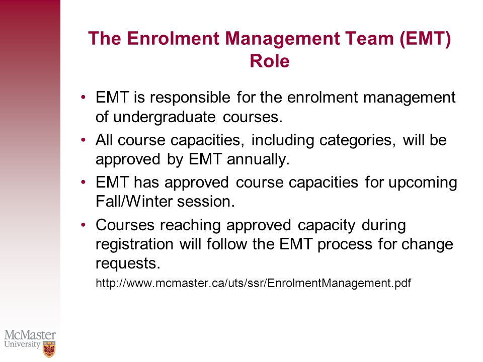 Required Course Policy Every effort will be made to accommodate students in required courses such that their program of study is not extended.