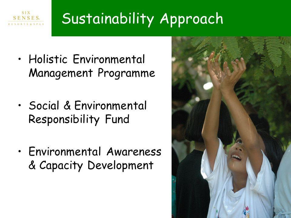 Sustainability Approach Holistic Environmental Management Programme Social & Environmental Responsibility Fund Environmental Awareness & Capacity Development