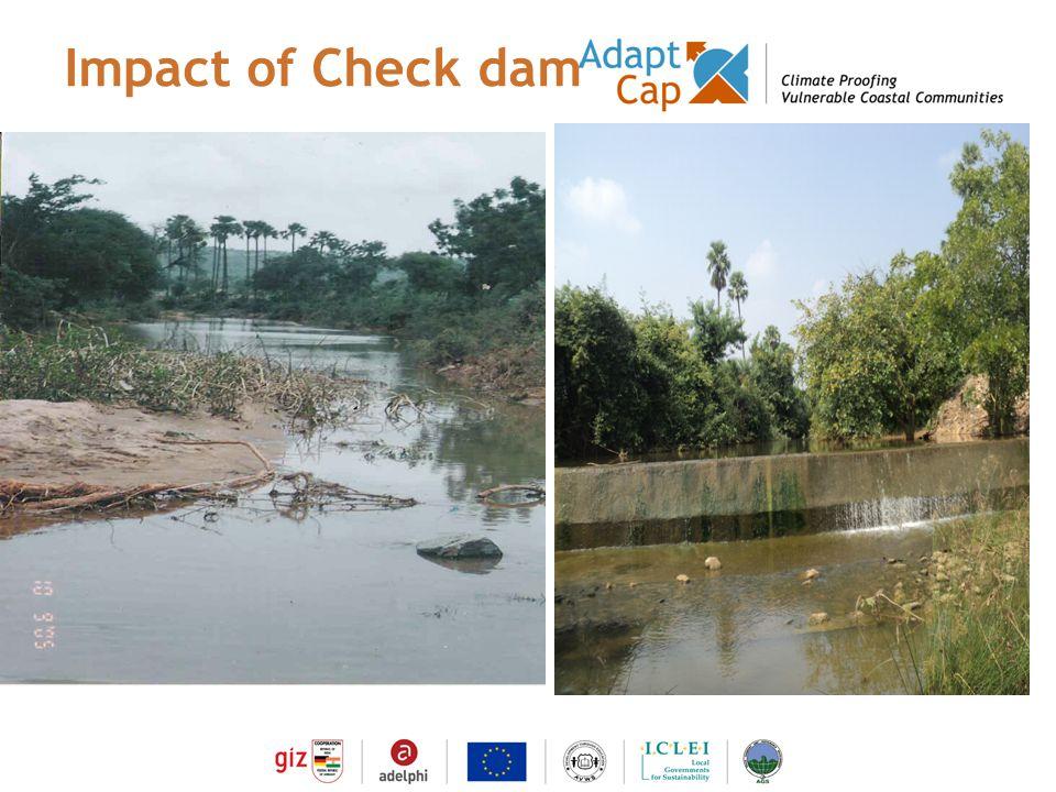 Dokumentation Ergebnisse 29./30 August 2006 / Folie 9 Folie 9 Impact of Check dam