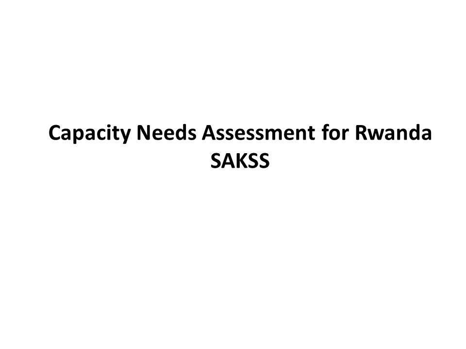 Capacity Needs Assessment for Rwanda SAKSS