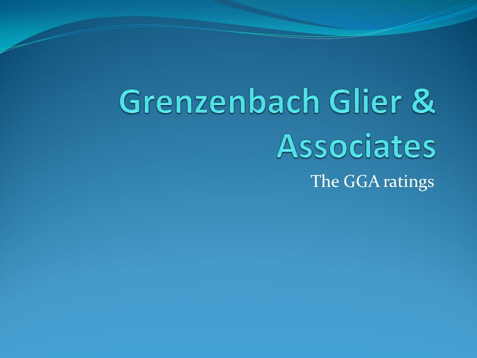The GGA ratings