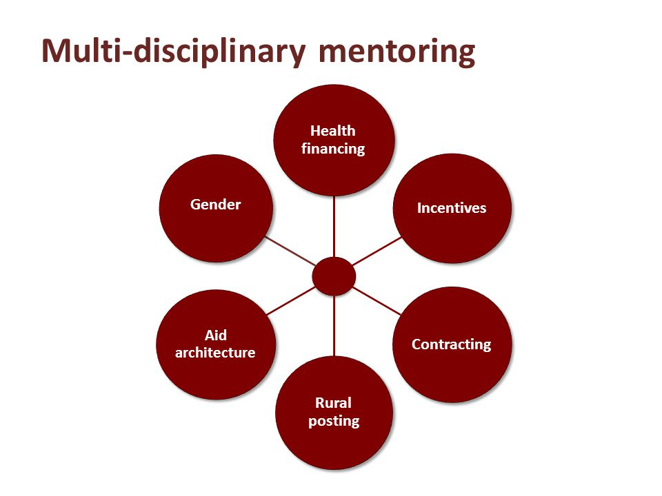 Multi-disciplinary mentoring Health financing Incentives Contracting Rural posting Aid architecture Gender
