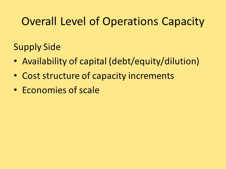 Minimum cost & optimal operating rate are functions of size of production unit.